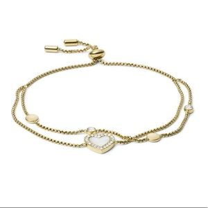 Hearts duo gold tone bracelet